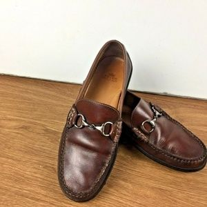 PETER MILLAR Loafer Leather  Moccasin SZ 8.5M
